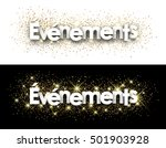 events paper banner with... | Shutterstock .eps vector #501903928