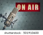 microphone on air | Shutterstock . vector #501910600