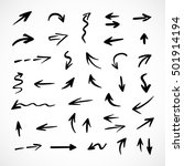 hand drawn arrows  vector set | Shutterstock .eps vector #501914194