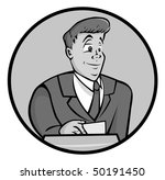 cartoon vector gray scale... | Shutterstock .eps vector #50191450