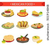 mexican food signature dishes... | Shutterstock .eps vector #501914848