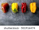 fresh vegetables on  black... | Shutterstock . vector #501916474