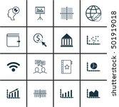 set of 16 universal editable... | Shutterstock .eps vector #501919018