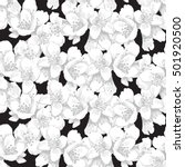 seamless pattern with hand... | Shutterstock .eps vector #501920500