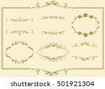 frame set vector    Shutterstock .eps vector #501921304