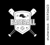 baseball emblem flat icon on... | Shutterstock .eps vector #501926623