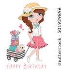 cute girl vector graphic   Shutterstock .eps vector #501929896