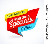weekend specials sale banner ...