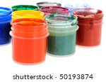 many cans with different paints | Shutterstock . vector #50193874