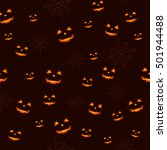 seamless halloween pattern  | Shutterstock .eps vector #501944488
