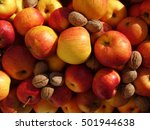 Harvest Of Yellow Red  Apples...