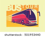 travelling by bus. emblem | Shutterstock .eps vector #501953440