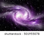 stars of a planet and galaxy in ... | Shutterstock . vector #501955078