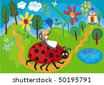 the fun wedding invitation | Shutterstock .eps vector #50195791