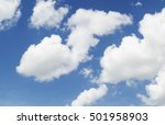 soft white clouds against blue... | Shutterstock . vector #501958903