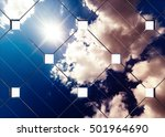afternoon cloudy sky reflection ... | Shutterstock . vector #501964690