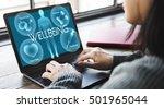 health wellbeing wellness... | Shutterstock . vector #501965044