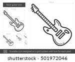rock guitar vector line icon... | Shutterstock .eps vector #501972046