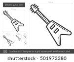 electric guitar vector line... | Shutterstock .eps vector #501972280