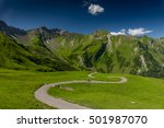 winding road in the mountains   ... | Shutterstock . vector #501987070