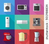 set of simple appliances flat... | Shutterstock .eps vector #501988834