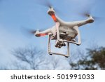 flying drone with stabilizer... | Shutterstock . vector #501991033