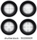 optical sniper sight | Shutterstock .eps vector #50200009