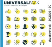 set of 25 universal editable... | Shutterstock .eps vector #502005430