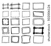 hand drawn rectangle frames set.... | Shutterstock .eps vector #502006126