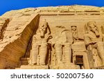 the great temple at abu simbel  ... | Shutterstock . vector #502007560