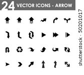 24 arrow icons   Shutterstock .eps vector #50201017