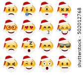 set of smile emoticons for... | Shutterstock .eps vector #502012768
