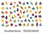 Fall Leaves Silhouettes Autumn...
