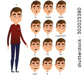 character ready for animation.... | Shutterstock .eps vector #502025380