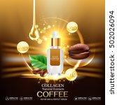 collagen serum coffee and...   Shutterstock .eps vector #502026094