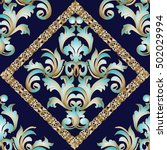 luxury baroque damask floral... | Shutterstock .eps vector #502029994