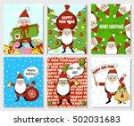 santa claus christmas card. new ... | Shutterstock .eps vector #502031683