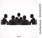 meeting icon  | Shutterstock .eps vector #502032259