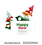 christmas and new year... | Shutterstock .eps vector #502033963