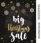big christmas sale. holiday... | Shutterstock .eps vector #502035943