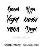 yoga studio concept logo design....   Shutterstock .eps vector #502038400