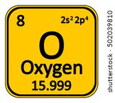 periodic table element oxygen... | Shutterstock .eps vector #502039810