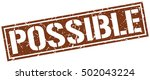 possible. grunge vintage... | Shutterstock .eps vector #502043224