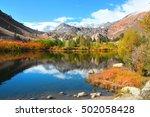 fall colors near sabrina lake ... | Shutterstock . vector #502058428
