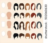 set of hairstyles for different ... | Shutterstock .eps vector #502060630