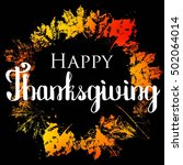 happy thanksgiving with text... | Shutterstock .eps vector #502064014