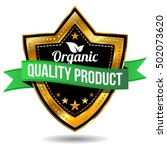 organic quality product label   ... | Shutterstock .eps vector #502073620