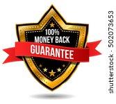 100  money back guarantee label | Shutterstock .eps vector #502073653