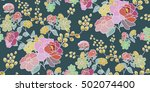 seamless floral pattern in... | Shutterstock .eps vector #502074400
