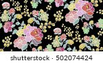 seamless floral pattern in... | Shutterstock .eps vector #502074424